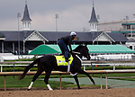 April 28, 2019 : Win Win Win works out  at Churchill Downs, Louisville, Kentucky, preparing for a start in the Kentucky Derby. Owner Live Oak Plantation, trainer Michael J. Trombetta. By Hat Trick x Miss Smarty Pants (Smarty Jones) Mary M. Meek/ESW/CSM