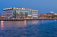 Camden NJ, Susquehanna Bank Center, Adventure Aquarium,  Sunset,