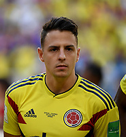SAMARA - RUSIA, 28-06-2018: Santiago ARIAS jugador de Colombia durante los actos protocolarios previo al partido de la primera fase, Grupo H, entre Senegal y Colombia por la Copa Mundial de la FIFA Rusia 2018 jugado en el estadio Samara Arena en Samara, Rusia. / Santiago ARIAS player of Colombia during the formal events prior the match between Senegal and Colombia of the first phase, Group H, for the FIFA World Cup Russia 2018 played at Samara Arena stadium in Samara, Russia. Photo: VizzorImage / Julian Medina / Cont