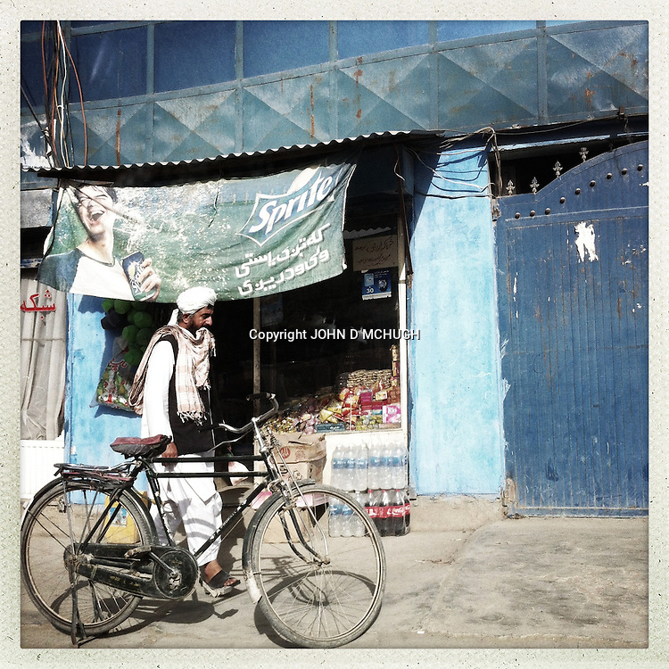 ** TO GO WITH AFGHANISTAN STORY FOR PETER MURTAGH - NO ARCHIVE, NO RESALE ** A man is seen walking in Kabul, 28 August 2012. (John D McHugh)