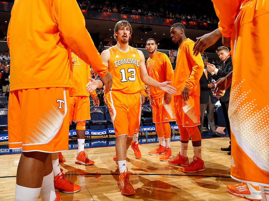 Tennessee guard Skylar McBee (13) during the game Wednesday in Charlottesville, VA. Virginia defeated Tennessee 46-38.