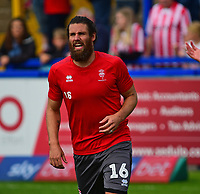 Lincoln City's Michael Bostwick during the pre-match warm-up<br /> <br /> Photographer Andrew Vaughan/CameraSport<br /> <br /> The EFL Sky Bet League One - Macclesfield Town v Lincoln City - Saturday 15th September 2018 - Moss Rose - Macclesfield<br /> <br /> World Copyright &copy; 2018 CameraSport. All rights reserved. 43 Linden Ave. Countesthorpe. Leicester. England. LE8 5PG - Tel: +44 (0) 116 277 4147 - admin@camerasport.com - www.camerasport.com