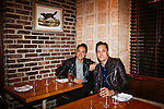 Brothers Mark (dark shirt) and Jonnie Houston at their restaurant and bar Butchers and Barbers in Los Angeles, California January 3, 2014.