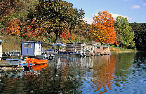Peaceful rural Argyle lake near Macomb, Illinois