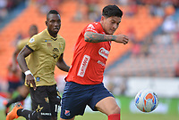 MEDELLÍN - COLOMBIA, 19-08-2018: German Cano jugador del Medellín en acción durante el partido entre Deportivo Independiente Medellín y Rionegro Aguilas por la fecha 5 de la Liga Águila II 2018 jugado en el estadio Atanasio Girardot de la ciudad de Medellín. / German Cano player of Medellin in action during the match between Deportivo Independiente Medellin and Rionegro Aguilas for the date 5 of the Aguila League II 2018 played at Atanasio Girardot stadium in Medellin city. Photo: VizzorImage / León Monsalve / Cont