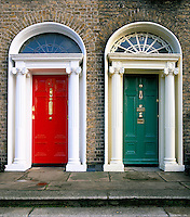 Ireland, Dublin County, Dublin: Georgian Doors | Irland, Dublin County, Dublin: Georgianische Tueren