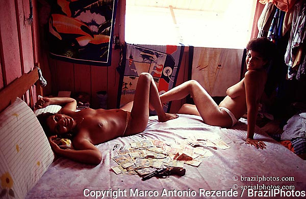 Amazon, Brazil...Prostitutes at gold mining area.