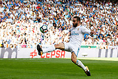 9th September 2017, Santiago Bernabeu, Madrid, Spain; La Liga football, Real Madrid versus Levante; Daniel Carvajal Ramos Real Madrid' controls a difficult ball