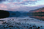 Derwent Water at Dawn viewed from Keswick, Cumbria Lake District, England UK