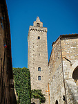 Stone Medieval towers of San Gimignano, Siena-Tuscano, Italy<br /> <br /> (Torre)