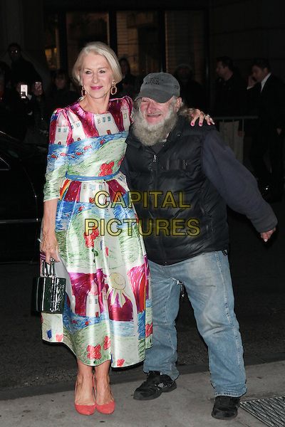 NEW YORK, NY - NOVEMBER 30:  Helen Mirren and Radioman at the 25th IFP Gotham Independent Film Awards co-sponsored by FIJI Water at Cipriani, Wall Street on November 30, 2015 in New York City.  <br /> CAP/MPI/DIE<br /> &copy;DIE/MPI/Capital Pictures