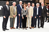 "Charlie Cox, Sir Michael Gambon, Sir Michael Caine, Francesca Annis, Ray Winstone,  Sir Tom Courtenay and Jim Broadbent<br /> at the World Premiere of  ""King of Thieves"", Vue Cinema Leicester Square, London<br /> <br /> ©Ash Knotek  D3429  12/09/2018"