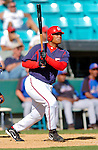 15 March 2006: Daryle Ward, infielder for the Washington Nationals, gets a hit during a Spring Training game against the New York Mets. The Mets defeated the Nationals 8-5 at Space Coast Stadium, in Viera, Florida...Mandatory Photo Credit: Ed Wolfstein..