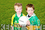 FUN: Darragh O'Shea and Andrew Kerins enjoying the fun at the Sylvie Mason Blitz at the John Mitchels club on Saturday.