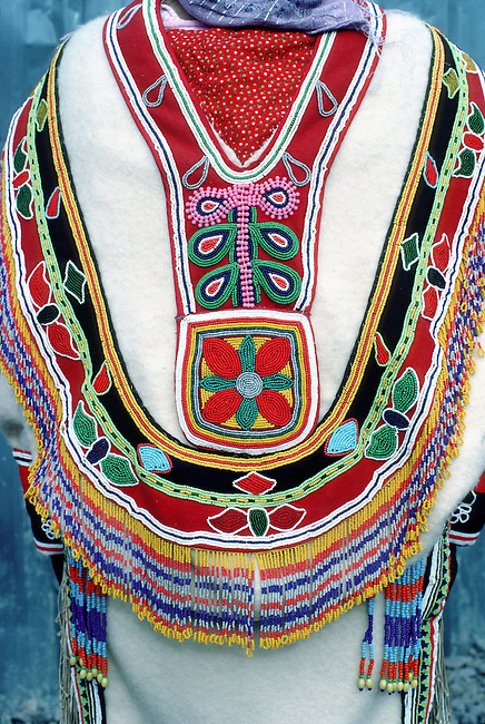 CANADA, NW TERRITORIES, ARVIAT, (ESKIMO POINT), CLOSE-UP OF TRADITIONAL INUIT DRESS DESIGN