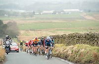 Picture by Allan McKenzie/SWpix.com - 15/04/18 - Cycling - HSBC UK British Cycling Spring Cup Road Series - Chorley Grand Prix 2018 - Chorley, England - Canyon Eisberg's Rory Townsend leads the break up the moors.