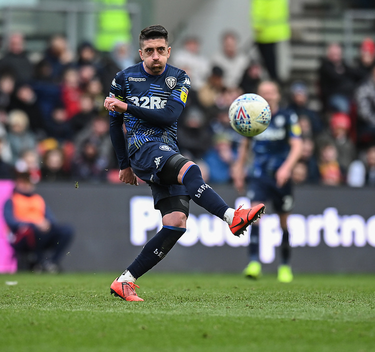 Leeds United's Kalvin Phillips<br /> <br /> Photographer David Horton/CameraSport<br /> <br /> The EFL Sky Bet Championship - Bristol City v Leeds United - Saturday 9th March 2019 - Ashton Gate Stadium - Bristol<br /> <br /> World Copyright © 2019 CameraSport. All rights reserved. 43 Linden Ave. Countesthorpe. Leicester. England. LE8 5PG - Tel: +44 (0) 116 277 4147 - admin@camerasport.com - www.camerasport.com