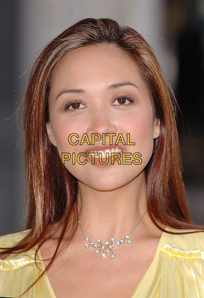 "MYLEENE KLASS.the ""I'm A Celebrity Get Me Out Of Here"" star  poses outside The Royal Opera House in Covent Garden, London, England 6th February 2007..She will be presenting the Orange Red Carpet Show from the BAFTA red carpet this Sunday..portrait headshot necklace.CAP/ BEL.©Tom Belcher/Capital Pictures."