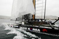 NAPOLI 13/04/2012 WORLD SERIES DELL AMERICAN'S CUP 2012.NELLA FOTO KOREA.FOTO CIRO DE LUCA