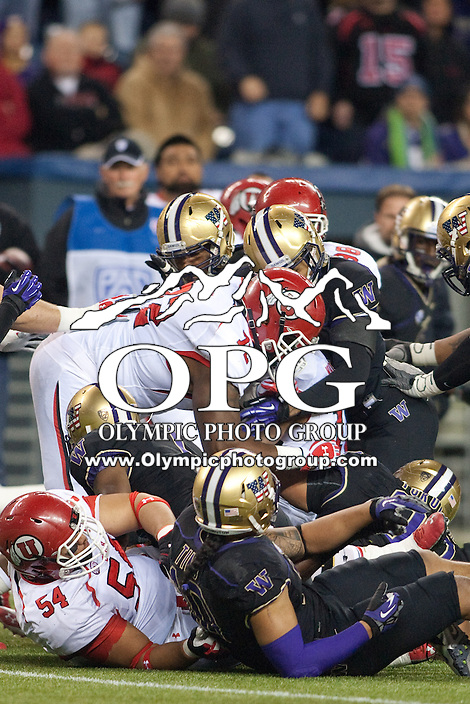 NOV 10, 2012:  Washington's Josh Shirley against Utah.  Washington defeated Utah  34-15 at CenturyLink Field in Seattle, WA...