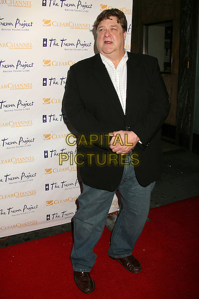 "JOHN GOODMAN.The Trevor Project's Cracked Xmas 9 ""Mistletoe, Mischief & Myrrh!"" at the Wiltern LG, Los Angeles, California, USA, 03 December 2006..full length jeans black jacket.CAP/ADM/BP.©Byron Purvis/AdMedia/Capital Pictures."