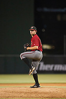 AZL Diamondbacks relief pitcher Gabe Gonzalez (54) delivers a pitch to the plate against the AZL Angels on August 20, 2017 at Diablo Stadium in Tempe, Arizona. AZL Angels defeated the AZL Diamondbacks 19-1. (Zachary Lucy/Four Seam Images)