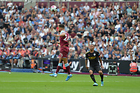 Ryan Fredericks of West Ham United heads clear during West Ham United vs Manchester City, Premier League Football at The London Stadium on 10th August 2019
