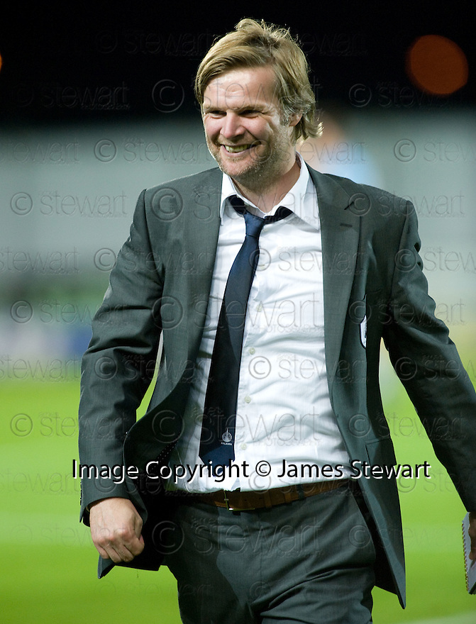 21/09/2010   Copyright  Pic : James Stewart.sct_jsp016_falkirk_v_hearts  .:: FALKIRK MANAGER STEVEN PRESSLEY AT THE END OF THE GAME :: .James Stewart Photography 19 Carronlea Drive, Falkirk. FK2 8DN      Vat Reg No. 607 6932 25.Telephone      : +44 (0)1324 570291 .Mobile              : +44 (0)7721 416997.E-mail  :  jim@jspa.co.uk.If you require further information then contact Jim Stewart on any of the numbers above.........