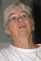 Dorothy Stang durante entrevista após receber a medalha Paulo Frota na Assembléia Legislativa do Estado, por sua luta a favor dos direitos humanos. <br /> Belém, Pará, Brasil.<br /> Foto Lucivaldo Sena/Interfoto<br /> 2004