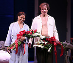 """Audra McDonald and Michael Shannon during the Opening Night Curtain Call for """"Frankie and Johnny in the Clair de Lune"""" at the Broadhurst Theatre on May 29, 2019  in New York City."""