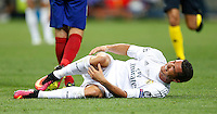 Calcio, finale di Champions League: Real Madrid vs Atletico Madrid. Stadio San Siro, Milano, 28 maggio 2016.<br /> Real Madrid's Cristiano Ronaldo reacts after getting injured during the Champions League final match between Real Madrid and Atletico Madrid, at Milan's San Siro stadium, 28 May 2016.<br /> UPDATE IMAGES PRESS/Isabella Bonotto