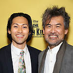 Jin Ha and David Henry Hwang attends the 20th Anniversary Performance of 'The Lion King' on Broadway at The Minskoff Theatre on November 5, 2017 in New York City.