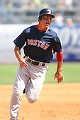 March 17th 2008:  Jacoby Ellsbury of the Boston Red Sox during a Spring Training game at Legends Field in Tampa, FL.  Photo by:  Mike Janes/Four Seam Images