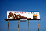 Cocoa Butter tanning billboard  in Los Angeles circa 1967