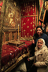 Christmas in Bethlehem, the Grotto of the Nativity at the Church of the Nativity
