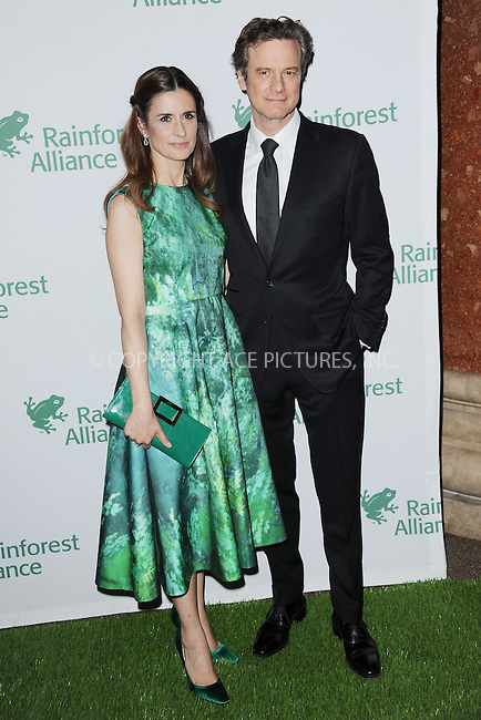WWW.ACEPIXS.COM<br /> May 7, 2014 New York City<br /> <br /> Livia Giuggioli and Colin Firth attending the 2014 Rainforest Alliance Gala at the American Museum of Natural History on May 7, 2014 in New York City.<br /> <br /> By Line: Kristin Callahan/ACE Pictures<br /> ACE Pictures, Inc.<br /> tel: 646 769 0430<br /> Email: info@acepixs.com<br /> www.acepixs.com