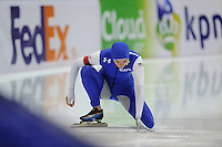 SCHAATSEN: HEERENVEEN: 14-12-2014, IJsstadion Thialf, ISU World Cup Speedskating, Podium Ladies 500m Division A, Heather Richardson (USA), ©foto Martin de Jong