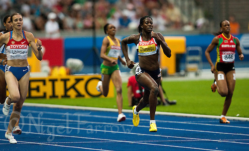 16 AUG 2009 - BERLIN, GER - Christine Ohuruogu - Womens 400m - Semi Final - World Athletics Championships .(PHOTO (C) NIGEL FARROW)