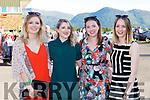 Ailidh Docherty, Niamh Hartnett, Ashling Hartnett and Amy Pearson at the Killarney Races on Monday
