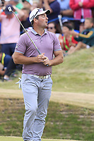 Ryan Fox (NZL) misses his putt to tie on the playoff 18th green during Sunday's Final Round of the 2018 Dubai Duty Free Irish Open, held at Ballyliffin Golf Club, Ireland. 8th July 2018.<br /> Picture: Eoin Clarke   Golffile<br /> <br /> <br /> All photos usage must carry mandatory copyright credit (&copy; Golffile   Eoin Clarke)