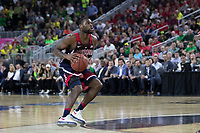LAS VEGAS, NV - March 11, 2017: Arizona Wildcats Men's Basketball team vs. the Oregon Ducks.  Final Score: Arizona Wildcats 83, Oregon Ducks 80