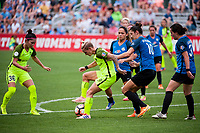 Kansas City, MO - Saturday June 17, 2017: Nahomi Kawasumi, Jess Fishlock, Lo'eau Labonta, Yael Averbuch, Christina Gibbons during a regular season National Women's Soccer League (NWSL) match between FC Kansas City and the Seattle Reign FC at Children's Mercy Victory Field.