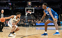 WASHINGTON, DC - FEBRUARY 05: Tyrese Samuel #4 of Seton Hall defends against Jagan Mosely #4 of Georgetown during a game between Seton Hall and Georgetown at Capital One Arena on February 05, 2020 in Washington, DC.