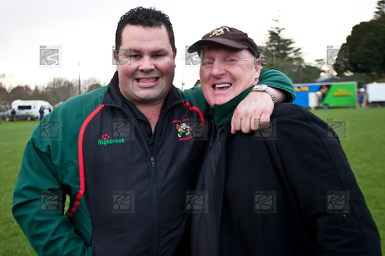 Waiuku coaches John Bell and Peter Summerville. Counties Manukau McNamara Cup Premier Club Rugby final between Pukekohe andWaiuku, held at Bayer Growers Stadium, on Saturday July 17th. Waiuku won 25 - 20.