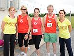 Ciara O'Reilly, Pauline Lannon, Tracey Halton, Derek Cummins and Miriam Gough who took part in the Newtown Blues 12.5K run. Photo: Colin Bell/pressphotos.ie