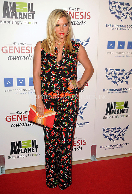 WWW.ACEPIXS.COM . . . . .  ....March 24 2012, LA....Ke$ha arriving at the 26th Annual Genesis Awards at The Beverly Hilton Hotel on March 24, 2012 in Beverly Hills, California. ....Please byline: PETER WEST - ACE PICTURES.... *** ***..Ace Pictures, Inc:  ..Philip Vaughan (212) 243-8787 or (646) 769 0430..e-mail: info@acepixs.com..web: http://www.acepixs.com