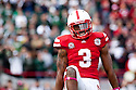 29 October 2011: Daimion Stafford #3 of the Nebraska Cornhuskers celebrates a big hit in the first quarter  against the Michigan State Spartans at Memorial Stadium in Lincoln, Nebraska.  Nebraska defeated Michigan State 24 to 3.