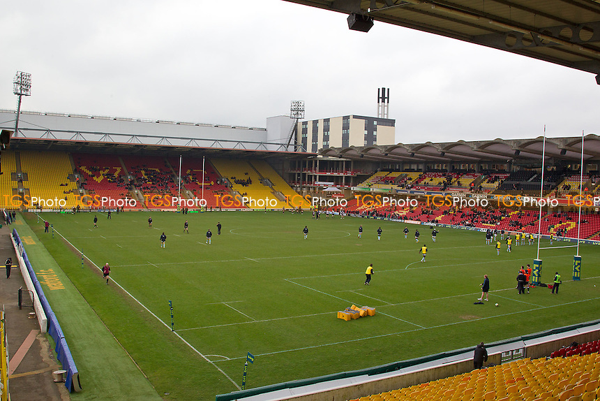 Vicarage Road Stadium - Saracens RFC vs Worcester Warriors RFC - LV Cup 3rd Round Rugby at Vicarage Road Stadium, Watford FC - 29/01/12 - MANDATORY CREDIT: Ray Lawrence/TGSPHOTO - Self billing applies where appropriate - 0845 094 6026 - contact@tgsphoto.co.uk - NO UNPAID USE.