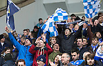 St Johnstone v Aberdeen...13.04.14    William Hill Scottish Cup Semi-Final, Ibrox<br /> Jubilant saints fans celebrate<br /> Picture by Graeme Hart.<br /> Copyright Perthshire Picture Agency<br /> Tel: 01738 623350  Mobile: 07990 594431