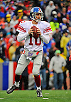 23 December 2007: New York Giants quarterback Eli Manning drops back to pass against the Buffalo Bills at Ralph Wilson Stadium in Orchard Park, NY. The Giants defeated the Bills 38-21. ..Mandatory Photo Credit: Ed Wolfstein Photo